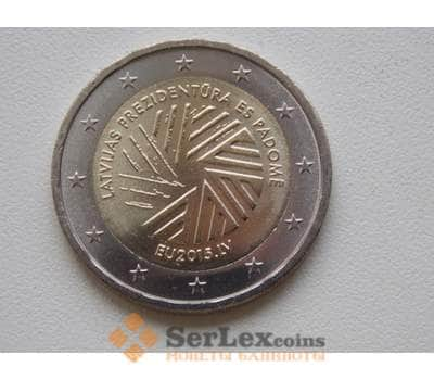Латвия 2 евро 2015 Председательство в ЕС UNC арт. С00529