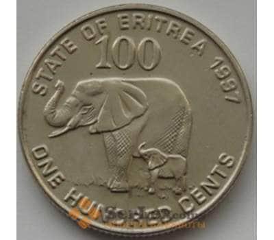 Эритрея 100 центов 1991 КМ48 unc Фауна арт. С00703