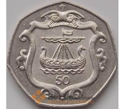 Мэн остров 50 пенсов 1985 КМ148 VF арт. С00829