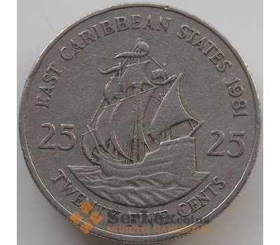 Восточно-Карибские острова 25 центов 1981-2000 КМ14 VF арт. С00881