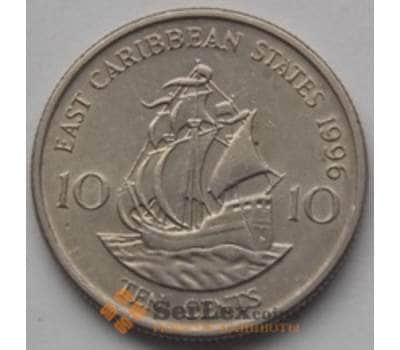 Восточно-Карибские острова 10 центов 1981-2000 КМ13 Корабль арт. С00882
