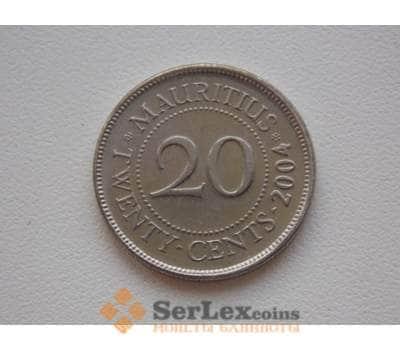 Маврикий 20 центов 2004 КМ53 арт. С01099
