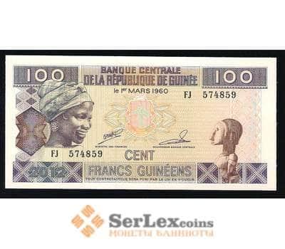 Гвинея 100 Франков 2012 UNC арт. В00355