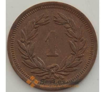 Швейцария 1 раппен 1929 КМ3 XF арт. 13247