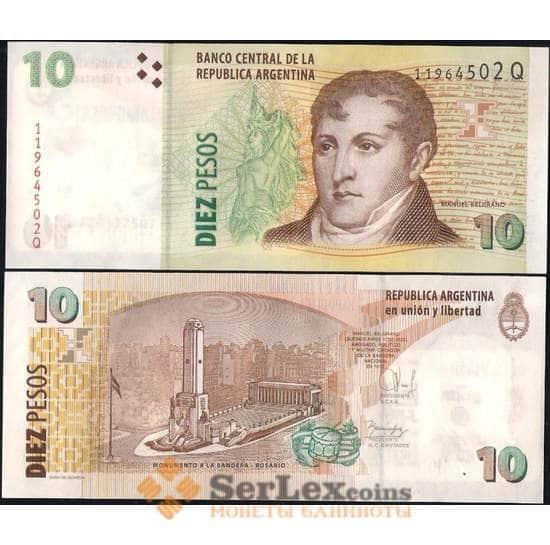 Аргентина 10 песо 2003 (2015) P354 UNC арт. В00340