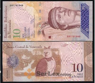 Венесуэла 10 Боливар 2007-2017 Р90 UNC арт. В00116