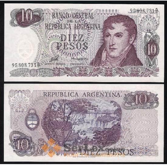Аргентина 10 песо 1976 P300 UNC  арт. В00104