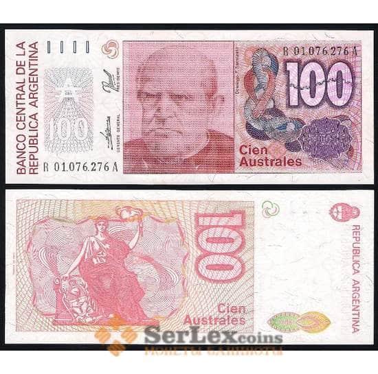 Аргентина 100 Аустралей 1985-1990 P327 UNC арт. В00106