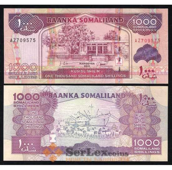 Сомалиленд 1000 Шиллингов 2011 Р20 UNC арт. В00064