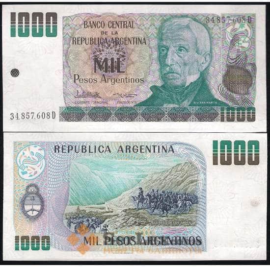 Аргентина 1000 Песо 1984-85 Р317 UNC арт. В00425