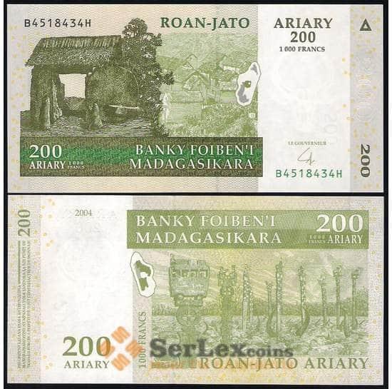 Мадагаскар 200 Ариари 2004 UNC №87 арт. В00456