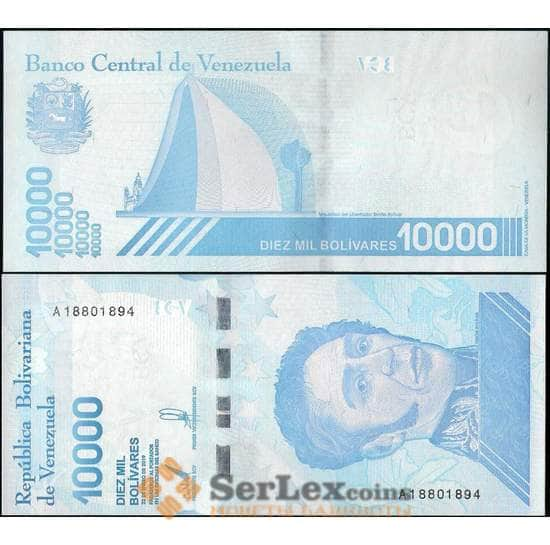 Венесуэла 10000 боливар 2019 UNC арт. 21812