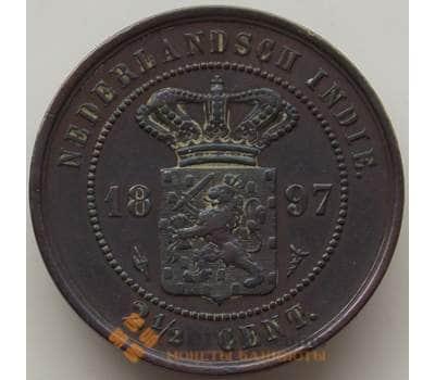 Нидерландская Восточная Индия 2 1/2 цента 1897 КМ308 XF арт. 12853