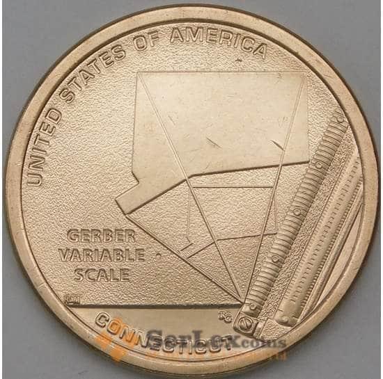 США 1 доллар 2020 UNC D Инновации №6 Коннектикут - Переменная шкала Гербера арт. 24004