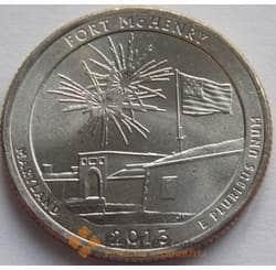 США 25 центов 2013 19 парк FORT McHENRY P арт. С01404