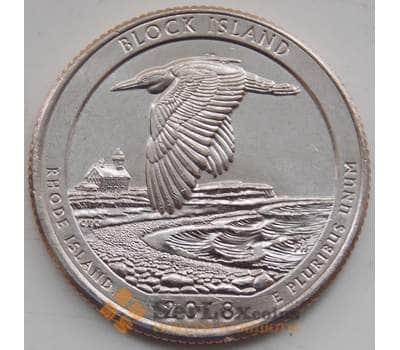 США 25 центов 2018 UNC 45 парк Остров Блок P арт. 13081