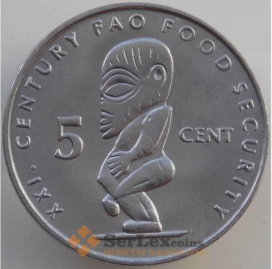 Острова Кука 5 центов 2000 КМ369 UNC ФАО арт. 14066