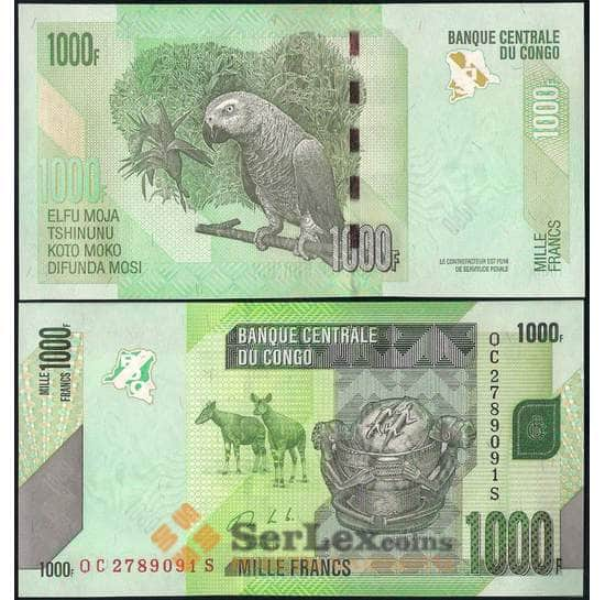 Конго 1000 франков 2013 Р101 UNC арт. В00660
