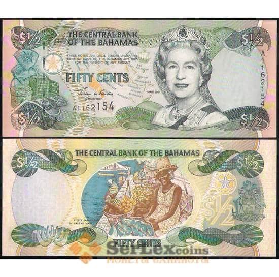 Багамские острова 1/2 доллара 2001 P68 UNC арт. В00863
