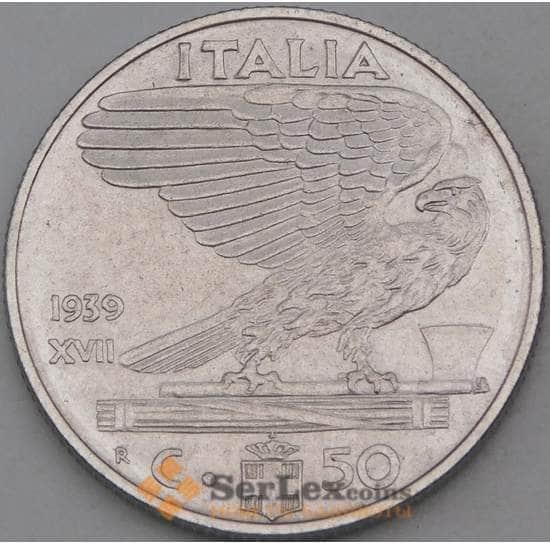 Италия 50 чентезимо 1939 КМ76d не магнитная арт. 28960