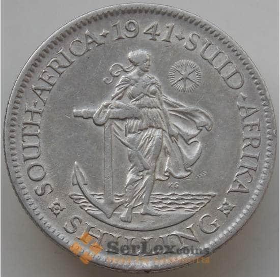 Южная Африка ЮАР 1 шиллинг 1941 КМ28 XF арт. 14149