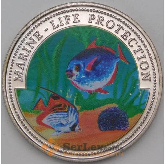 Гана 10 сика 1997 BU Защита морской жизни арт. 27097