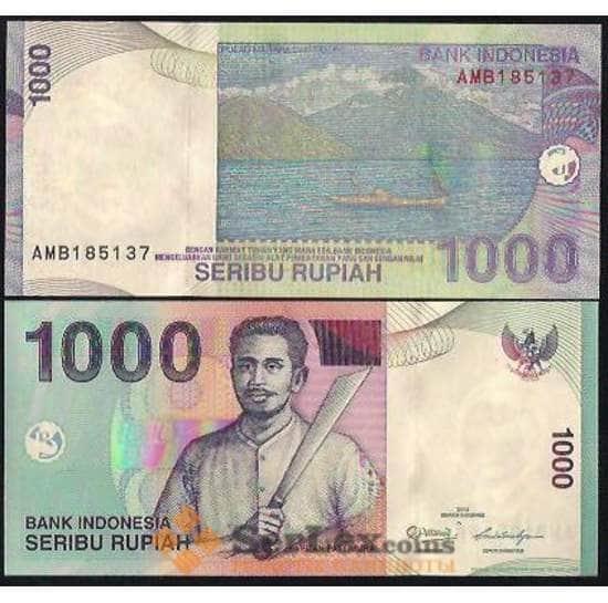Индонезия 1000 рупий 2000-2016 Р141 UNC арт. В00057