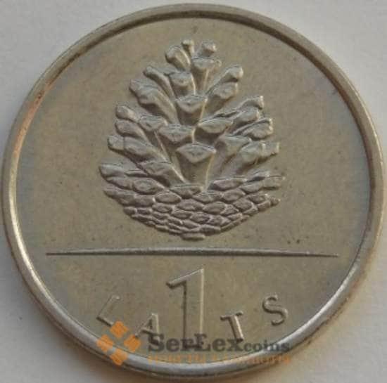 Латвия 1 лат 2006 КМ74 XF Шишка арт. С03597
