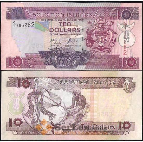 Соломоновы острова 10 долларов 2004-2011 P27 UNC арт. В01030