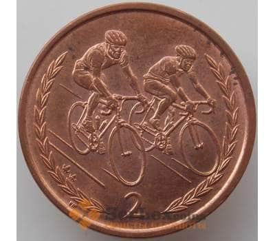 Мэн остров 2 пенса 1999 КМ901 AU Велоспорт арт. 13910