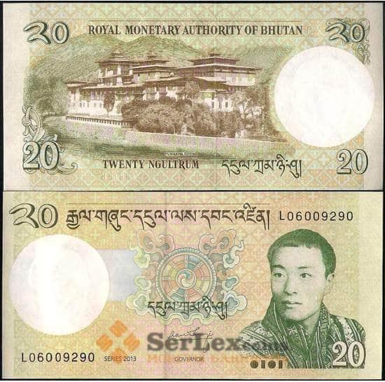 Бутан 20 нгултрум 2013 Р30 UNC арт. 22006