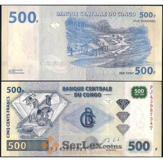 Конго 500 Франков 2002 Р96 UNC арт. 22501