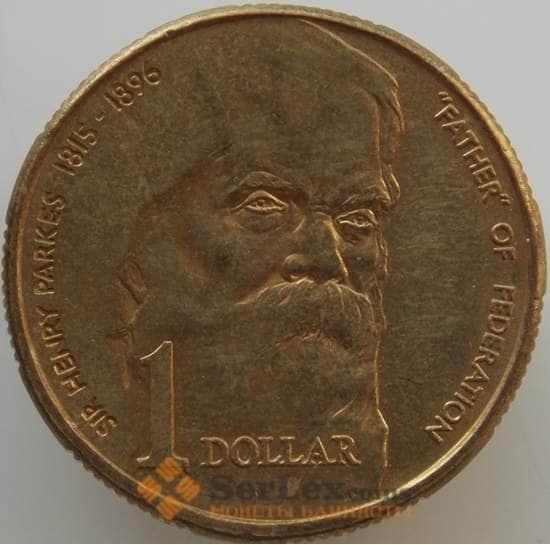 Австралия 1 доллар 1996 КМ310 AU-aUNC Генри Паркс арт. 10106