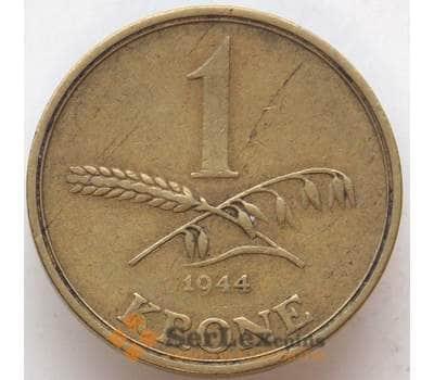 Дания 1 крона 1944 КМ835 VF арт. 12997