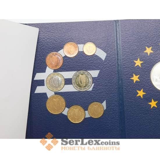 Ирландия Официальный набор Евро 1 цент - 2 евро 2002 (8 шт)+ жетон серебряный Дублин BU арт. 28549