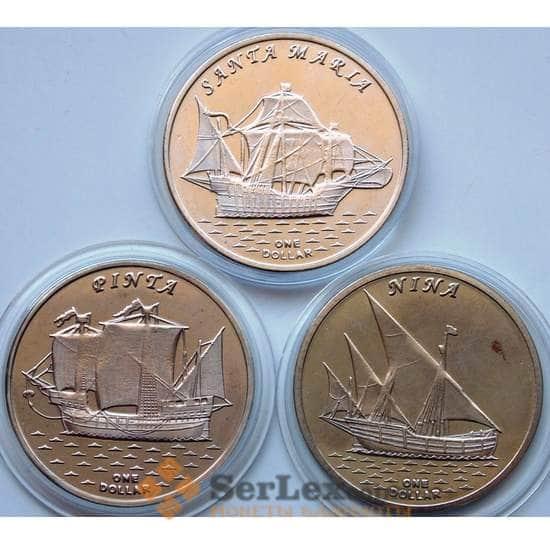 Острова Гилберта корабли жетоны (3шт) 2016 №5 арт. 6054