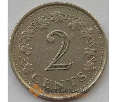 Мальта 2 цента 1972 КМ9 XF арт. 14267