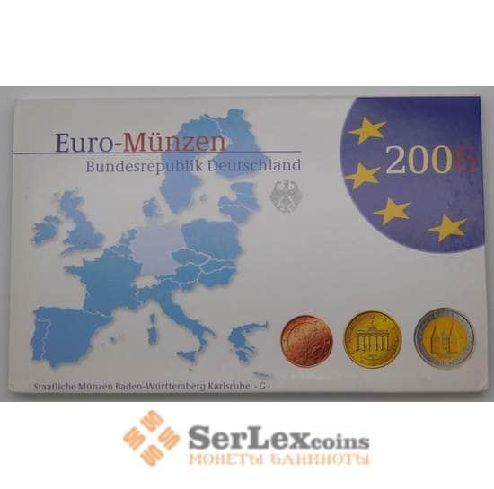 Германия годовой набор 2006 G 1 цент - 2 евро ( 8 монет)+2 евро Шлезвиг Proof арт. 28102