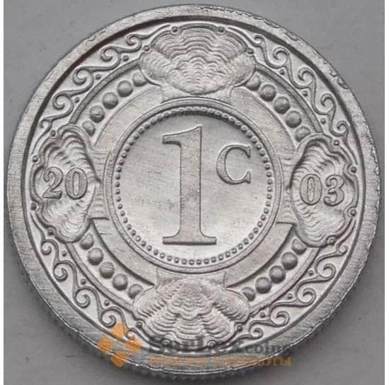 Нидерландские Антиллы 1 цент 2003 КМ32 UNC арт. 22160