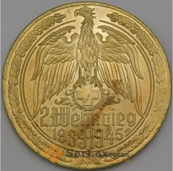 Германия копия медали 1939-1945 Пулемет МГ-42 бронза 54 мм арт. 26706