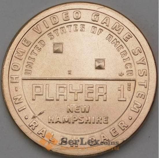 США 1 доллар 2021 UNC P Инновации №10 Первая игровая приставка. Нью-Гэмпшир арт. 29575