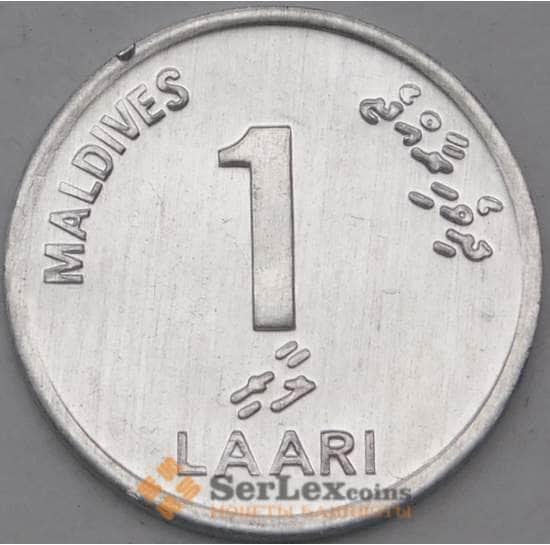 Мальдивы 1 лаари 2012 КМ68 UNC арт. 22155