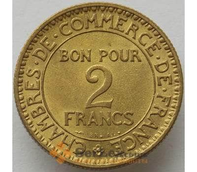 Франция 2 франка 1921 КМ877 UNC (J05.19) арт. 15280