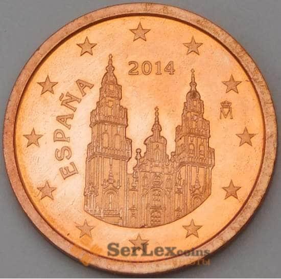 Испания 2 евроцента 2014 BU из набора арт. 28735