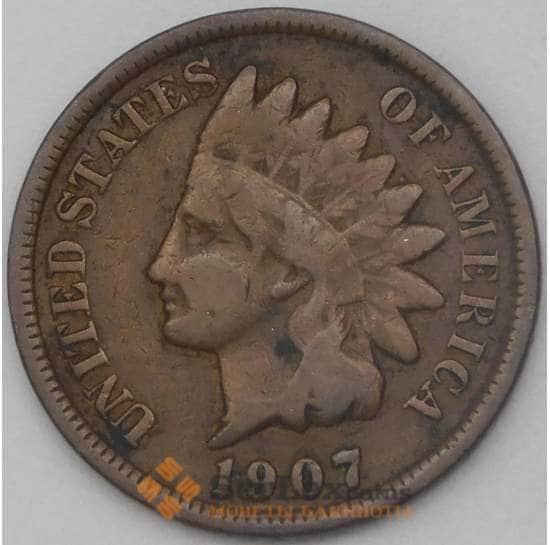 США 1 цент 1907 КМ90а XF арт. 29117