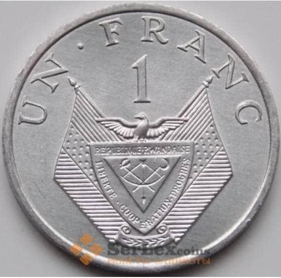 Руанда 1 франк 1985 КМ12 UNC арт. 8094
