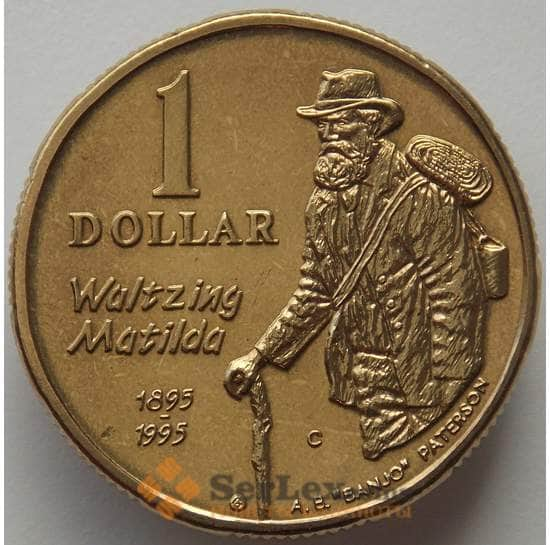 Австралия 1 доллар 1995 C КМ269 BU Эндрю Патерсон Банджо (J05.19) арт. 17141