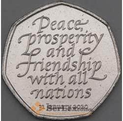 Великобритания 50 пенсов 2020 UNC Brexit (Брекзит) арт. 21994