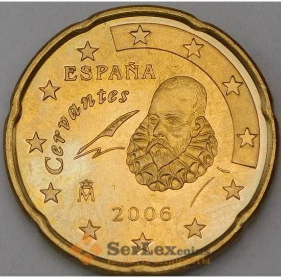 Испания 20 евроцентов 2006 BU из набора арт. 28744