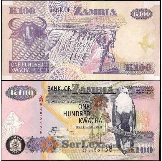Замбия 100 квача 2011 Р38 UNC арт. 22066
